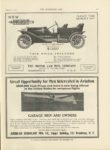 1911 2 22 NEW PARRY 1350 KEEP THE QUALITY UP THE MOTOR CAR MFG COMPANY Indianapolis THE HORSELESS AGE February 22, 1911 9×12 page 39