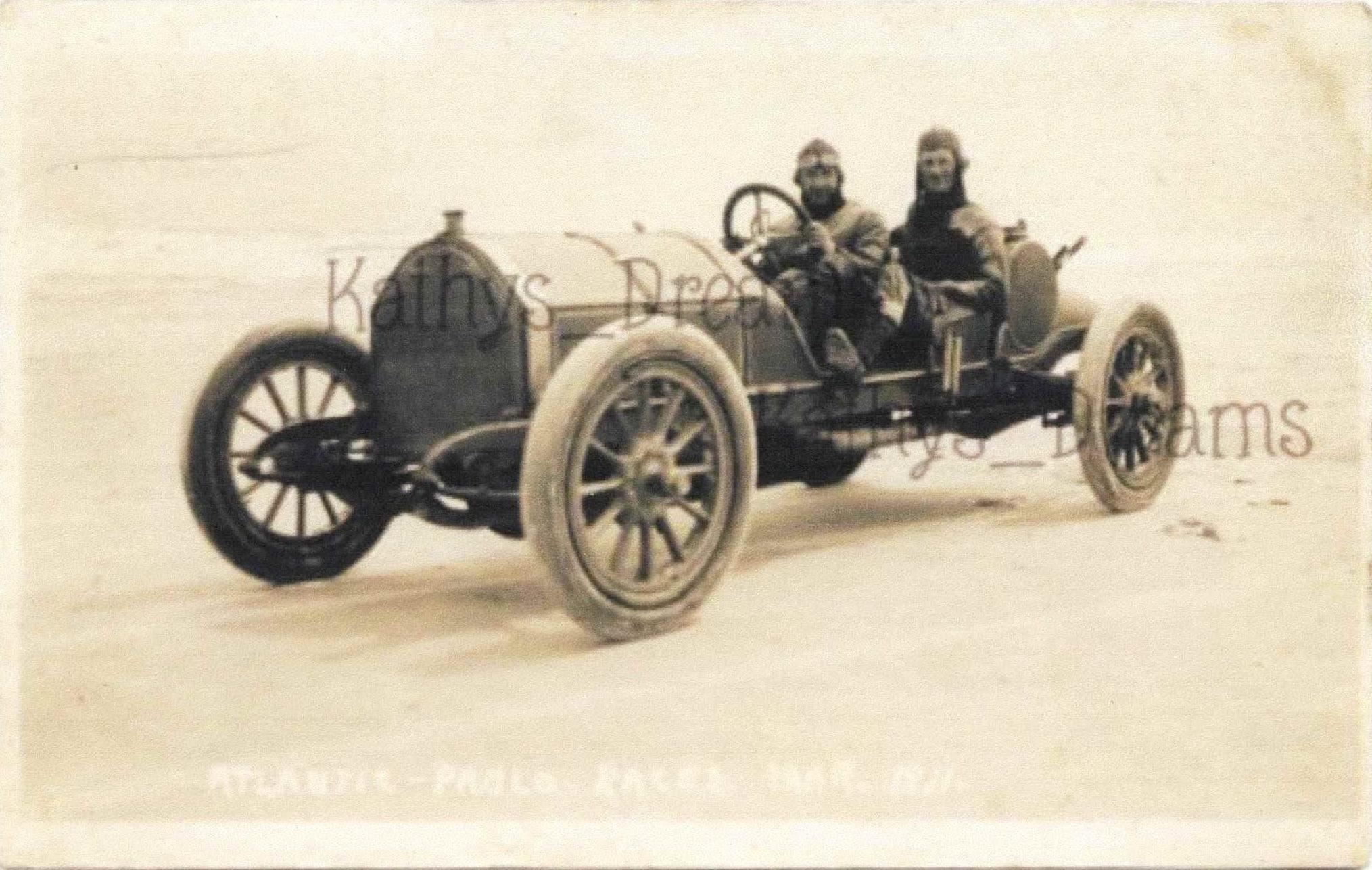 1911 3 ATLANTIC PABLO RACES MAR 1911 RPPC MERCER Hughie Hughes picture of  picture - Chuck's Toyland