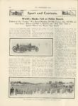 1911 4 5 NATIONAL, CASE World's Marks Fell at Pablo Beach. THE HORSELESS AGE April 5, 1911 Vol. 27 No. 14 9″x12″ page 604