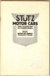 1914 STUTZ MOTOR CARS INDIANAPOLIS 6×9 page 1