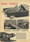 1954 1 FORD NEW FORDS FORD X-100 Lincoln – Mercury Division's XL-500 are examples of its engineer's unending search for the cars of the tomorrow Mechanix Illustrated January, 1954 6×9 page 78