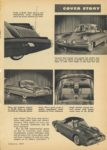 1954 1 FORD NEW FORDS FORD X-100 Lincoln – Mercury Division's XL-500 are examples of its engineer's unending search for the cars of the tomorrow Mechanix Illustrated January, 1954 6×9 page 79