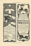 1904 NATIONAL MOTOR VEHICLES They go the Route McCLURES MAGAZINE page 120