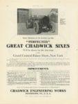 1908 12 CHADWICK GREAT CHADWICK SIXES Wilkesbarre Hill Climb MOTOR AGE 9″×12″ page a32