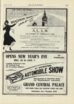 1909 12 23 10TH INTERNATIONAL AUTOMOBILE SHOW GRAND CENTRAL PALACE New York THE AUTOMOBILE 9″x12″ page 113