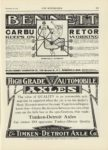 1909 12 23 BENNETT Carbuetor KEEPS ON WORKING WILCOX BENNETT CARBURETOR CO Minneapolis, Minnesota THE AUTOMOBILE 9″x12″ page 111