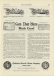 1909 12 23 CHALMERS-DETROIT Cars That Have Made Good Chalmers Motor Company Detroit, Michigan THE AUTOMOBILE 9″x12″ page 131