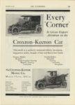 1909 12 23 ODDITIES Croxton-Keeton Car Every Corner The Croxton-Keeton Motor Co. Massillon, Ohio THE AUTOMOBILE December 23, 1909 9″x12″ page 135