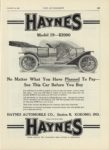 1909 12 23 HAYNES Model 19 $2000 Kokomo, Indiana THE AUTOMOBILE 9″x12″ page 139