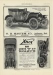 1909 12 23 McINTYRE 4 Cylinder, 30 H.P., 112-inch Wheel Base, 5 Passenger Touring Car, $1400 W.H. McINTYRE CO Auburn, Indiana THE AUTOMOBILE December 23, 1909 9″x12″ page 116