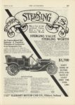 1909 12 23 STERLING 1910 1700 ELKHART MOTOR CAR CO Elkhart, Indiana THE AUTOMOBILE 9″x12″ page 109