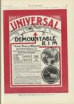 1909 12 23 UNIVERSAL DEMOUNTABLE RIM Less Than a Minute THE AUTOMOBILE 9″x12″ page 67