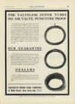 1909 12 23 VALVELESS INNER TUBE COMPANY New York City THE AUTOMOBILE 9″x12″ page 117