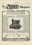 1909 12 23 VOLTA Magnetos AN IDEAL REALIZED Buffalo, NY THE AUTOMOBILE 9″x12″ page 122