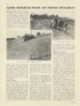1909 6 3 Indy 500 GOOD PROGRESS MADE ON MOTOR SPEEDWAY MOTOR AGE June 3 1909 8×12 page 16