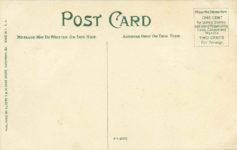 1909 ca WHITEFIELD AVENUE GRAND PIZE AND VANDERBILT CUP RACE SAVANNAH GA postcard back