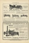 1910 10 12 THREE ESSENTIALS QUALITY PRICE SERVICE The Electric Welding Products Co THE HORSELESS AGE 9×12 page 32