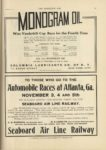 1910 10 5 MONOGRAM OIL Wins Vanderbilt Cup Race for the Fourth Time THE HORSELESS AGE 9×12 page 25