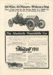 1910 10 WESTCOTT The Absolutely Dependable Car 100 Miles–83 Minutes–Without a Stop Fore-Dore 7-Passenger $2250 1911 Westcott 45-50 Westcott Motor Car Co. Richmond, Indiana MoToR October, 1910 10″×14″ page 27