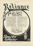 1910 11 17 Reliance Spark Plugs Sparks in Water MOTOR AGE Nov 17 1910 page 76