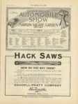 1910 12 28 ELEVENTH NATIONAL AUTOMOBILE SHOW AT MADISON SQUARE GARDEN THE HORSELESS AGE 9×12 page 35