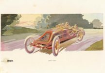 1910 2 GOING SOME by Montaut Supplement to MoToR 13″×9″