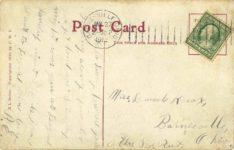 1910 A Honk Honk ag r r r r a whizz a whir r comic racecar X L Series postcard back