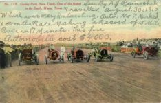 1910 Gurley Park Race Track One of the fastest in the South Waco Texas No 110 postcard front