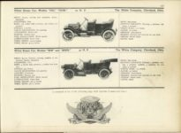 1910 WHITE Steam Car MoToRs 1910 MoToR CAR DIRECToRY Published By MoToR New York 10″×7.25″ page 121