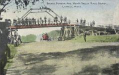 1910 ca Bridge Dunbar Ave MerrK Valley Race Course Lowell Mass postcard
