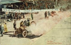 1910 ca The Start Lowel Mass Auto Race Course postmarked Nov 2 1910 postcard