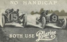 1910s ca NO HANDICAP BOTH USE Polarine OIL postcard front