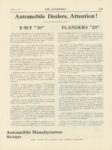 1911 1 5 EMF 30 FLANDERS 20 THE AUTOMOBILE 9″×12″ page I 16