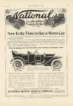 1911 5 3 NATIONAL Now Is the Time to Buy a Motor Car THE HORSELESS AGE 8.5″×12″ page 85