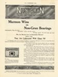 1911 6 21 MARMON Wins HIGH SPEED NON-GRAN BEARING BRONZE Nordyke & Marmon Company Indianapolis, Indiana THE HORSELESS AGE June 21,1911 Vol. 27 No, 25 8.5″x11.5″ page 36