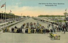 1912 Just before the Start Motor Speedway Indianapolis Ind postcard front