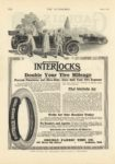 1913 6 5 INTERLOCKS Double Your Tire Mileage THE AUTOMOBILE 8.25″×12″ page 112