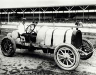 1913 Indianapolis 500 Howdy Wilcox Foxs Gray Ghost POPE HARTFORD HH COBURN Indianapolis Ind 2571 10×8 photograph front