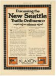 """1913 6 19 KLAXON Horns NEW SEATTLE """"The Public Safety Signal"""" Lovell-McConnell Mfg. Company Newark, New Jersey MOTOR AGE June 19, 1913 8.5""""x11.75"""" page 47"""