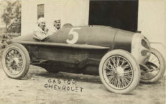 1913 ca Gaston Chevrolet racecar driver RPPC front