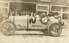 1913 ca Tom Milton racecar driver DUESENBERG Car 10 RPPC front