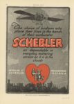 1914 12 24 SCHEBLER The choice of birdmen who place their lives in the hands of their carburetors Wheeler-Schebler Indianapolis, Indiana MOTOR AGE page 48
