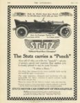 "1914 5 7 STUTZ The Stutz carries a ""Punch"" THE AUTOMOBILE 8.25″×11″ page 100"