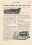 1914 8 6 Chalmers Master Six Has Boat Body THE AUTOMOBILE Aug 6 1914 8×12 page 276
