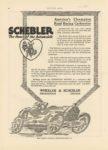 1915 ca. SCHEBLER Carburetors Americas Champion Road Racing Carburetor Wheeler-Schebler Indianapolis, Indiana MOTOR AGE ca. 1915 8.5″×12″ page 44