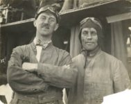 1916 Vanderbilt Race A. H. Patterson and mechanic Erie Olson HUDSON Car 20 front