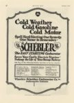 1917 2 1 SCHEBLER Cold Weather Cold Gasoline Cold Motor Wheeler-Schebler Carburetor Co., Inc. Indianapolis, Indiana MOTOR AGE Feb 1 1917 8×12 page 58