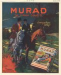 "1917 11 22 MURAD Cigarettes THE TURKISH CIGARETTE S. ANARGYROS P. Lorillard Co. LIFE November 22, 1917 8.75""x10.75"""