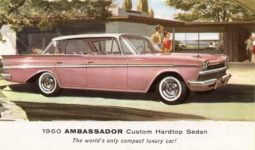 1960 AMBASSADOR Custom Hardtop Sedan The worlds only compact luxury car AM 60 8037K postcard front