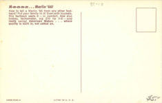 1966 MARLIN by American Motors postcard back